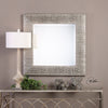 Cressida Distressed Silver Square Wall Mirror