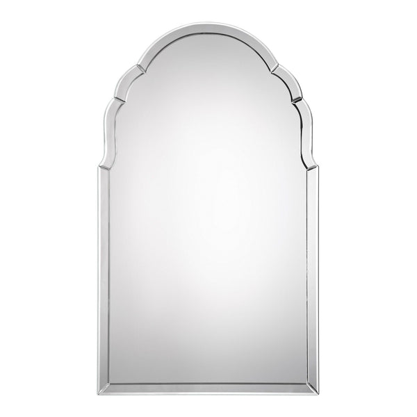Acantha Transitional Frameless Arched Mirror