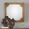 Rania Golden Champagne Square Mirror