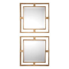 Allick Gold Mirror Squares - Set of 2 by Uttermost
