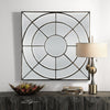Oberon Contemporary Rustic Bronze Decorative Wall Mirror by Uttermost