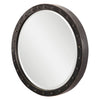 Beldon Industrial Oxidized Dark Bronze Round Wall Mirror