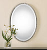 Annadel Contemporary Polished Nickel Oval Wall Mirror