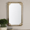 Devoll Transitional Antique Gold Rectangular Wall Mirror