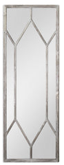 Sarconi Transitional Oversized Silver Leaf Decorative Wall Mirror by Uttermost