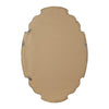 Ludovica Aged Wood Shaped Oval Wall Mirror
