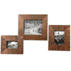 Ambrosia Copper Photo Frames, 3-Piece Set