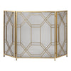 Rosen Antiqued Gold Fireplace Screen