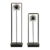Flowering Dandelions Sculptures, 2-Piece Set