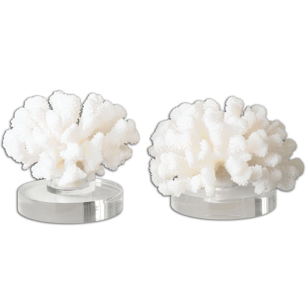 Hard Coral Sculptures, 2-Piece Set by Uttermost