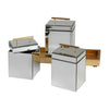Faustina Mirrored Boxes And Tray, 4-Piece Set