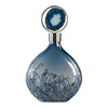 Rae Sky Blue Iridescent Glass Decorative Bottle with Agate Stone