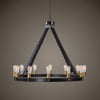 Marlow 12-Light Circle Industrial Style Chandelier
