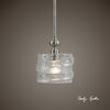 Mossa 1-Light Seeded Glass Pendant Lighting Fixture