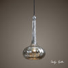 Oristano Contemporary 1-Light Antiqued Mercury Glass Pendant Fixture