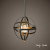 Rondure 1-Light Sphere Pendant Lighting Fixture