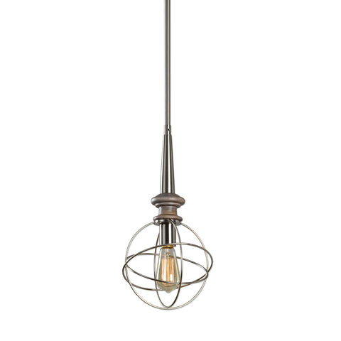 Amira Brushed Nickel 1-Light Pendant Lighting Fixture by Uttermost