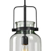 Lansing 1-Light Black Iron Pendant Lighting Fixture