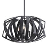 Thales Contemporary Black Geometric 3 Light Pendant Lighting Fixture