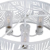 Palmier Tropical 3 Light White Indoor Outdoor Pendant Lighting Fixture by Uttermost