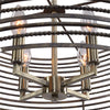 Braccialetto Contemporary 4 Light Ring Pendant Lighting Fixture by Uttermost