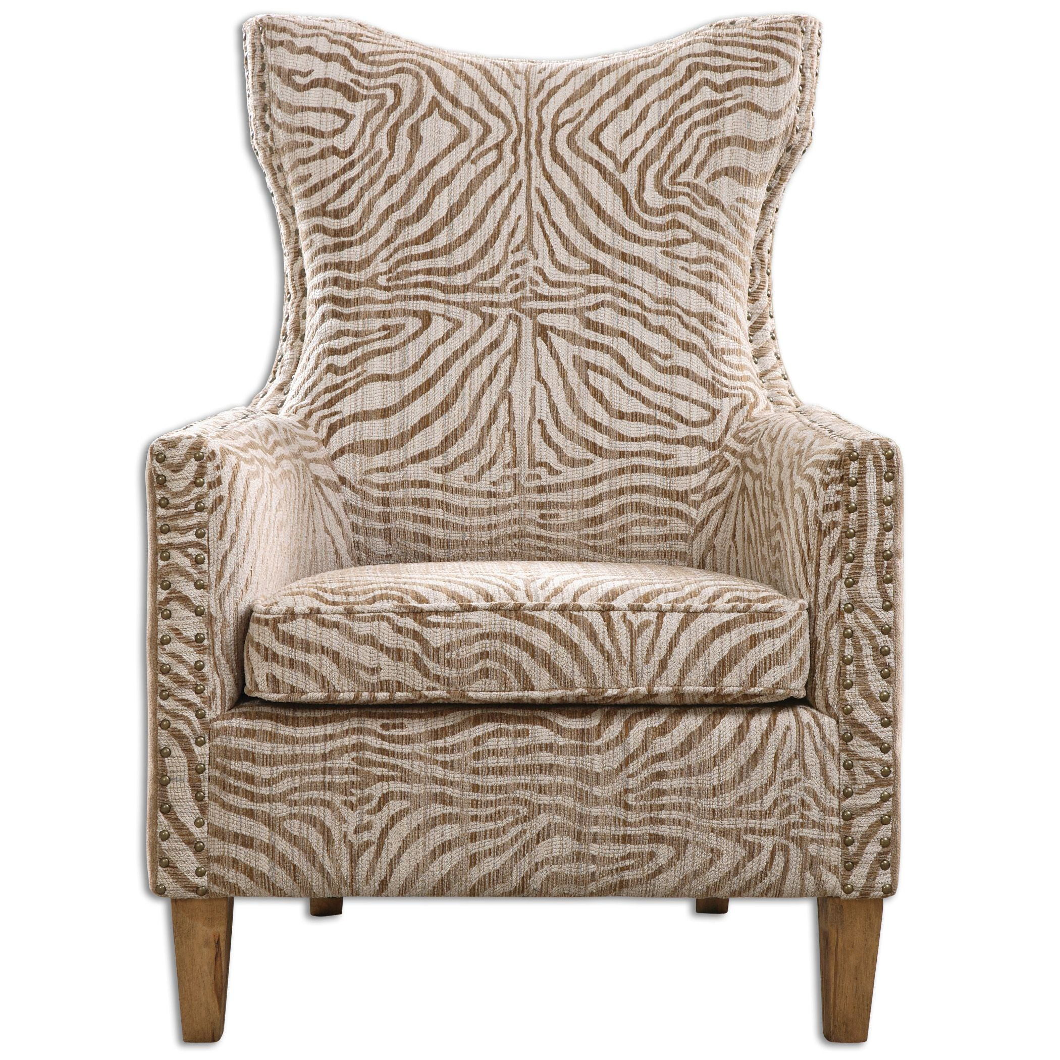 Kiango Animal Print Accent Chair Innovations Designer Home Decor