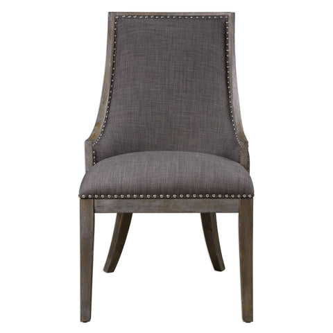 Aidrian Charcoal Gray Accent Chair by Uttermost