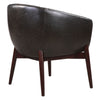 Anders Mid-century Modern Faux Leather Accent Chair