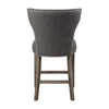 Arnaud Charcoal Gray Linen Upholstered Counter Stool