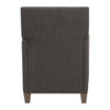 Darick Transitional Charcoal Gray Linen Club Chair