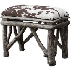 Chavi Small Faux Hide Bench by Uttermost