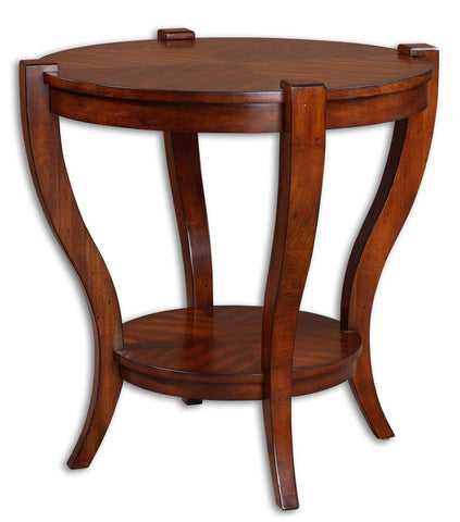 Bergman Round End Table by Uttermost