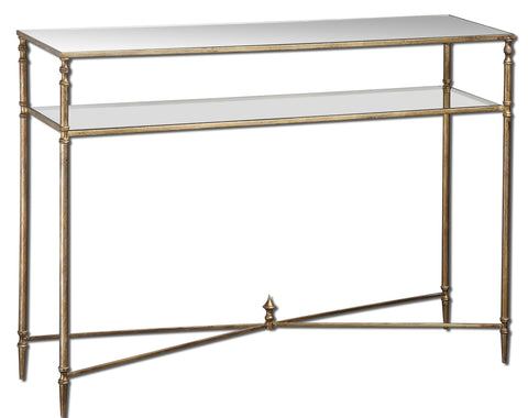 Henzler Mirrored Glass Console Table by Uttermost