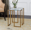 Mirrin Mid-century Modern Gold Leaf Square Accent Table