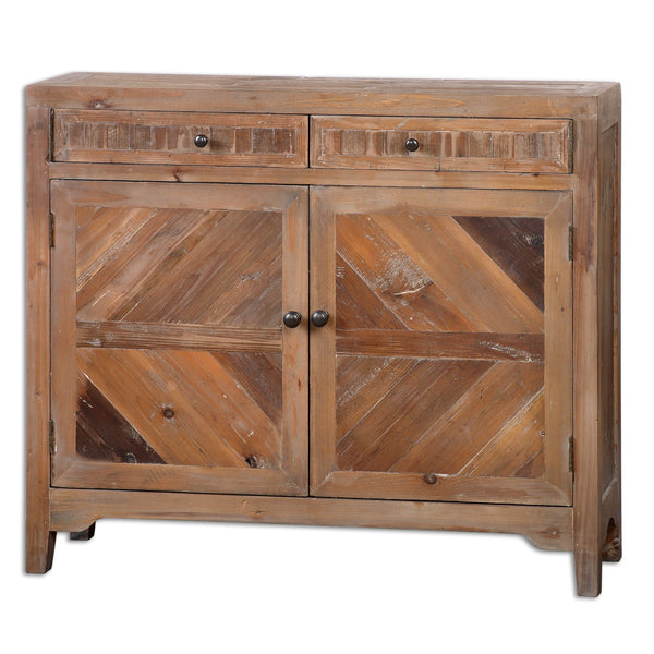 Hesperos Rustic Reclaimed Wood Console Cabinet by Uttermost