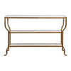 Deline Gold Console Table