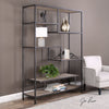Sherwin Reclaimed Pine and Aged Black Iron Etagere