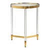 Kellen Mid-century Modern Round Glass Accent Table
