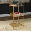 Tilly Gold Leaf Square Storage Accent Table