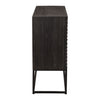 Zadie Contemporary Aged Ebony Accent Cabinet
