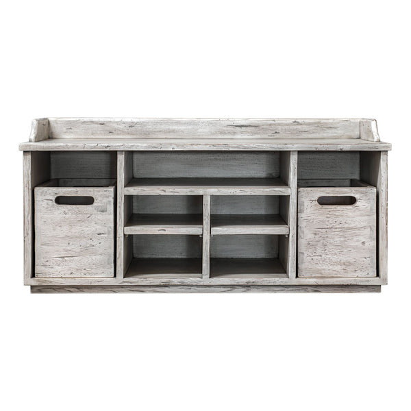 Ardusin Farmhouse Aged White Hobby Bench by Uttermost