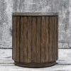Maxfield Rustic Wooden Drum Accent Table