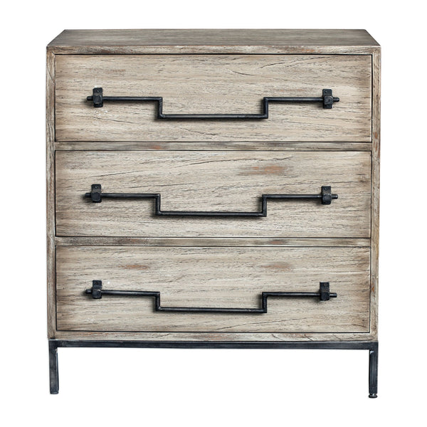 Jory Farmhouse Aged Ivory Mango Wood Rustic Accent Chest