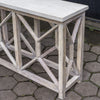 Catali Ivory Limestone and Java Wood Console Table