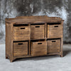 Lucian Rustic Driftwood Hobby Cupboard with a Gray Wash