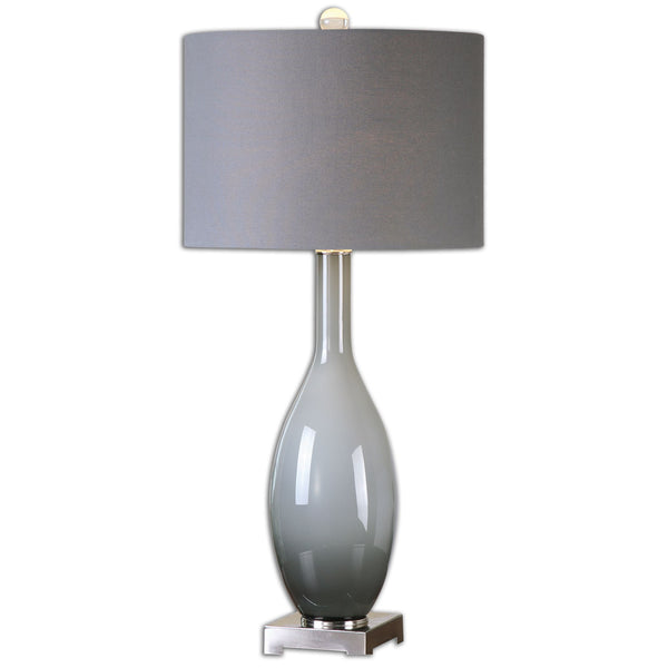 Vallo Smoke Gray Glass Table Lamp by Uttermost