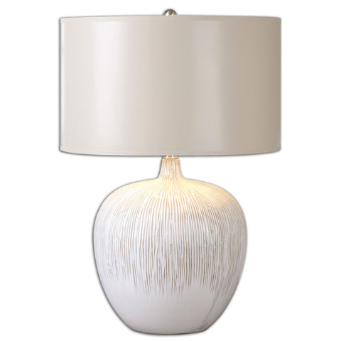 Georgios Textured Ceramic Accent Lamp by Uttermost