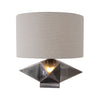 Ignacio Contemporary Antiqued Brushed Nickel Geometric Accent Lamp