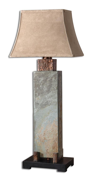 Tall Slate Indoor Outdoor Table Lamp