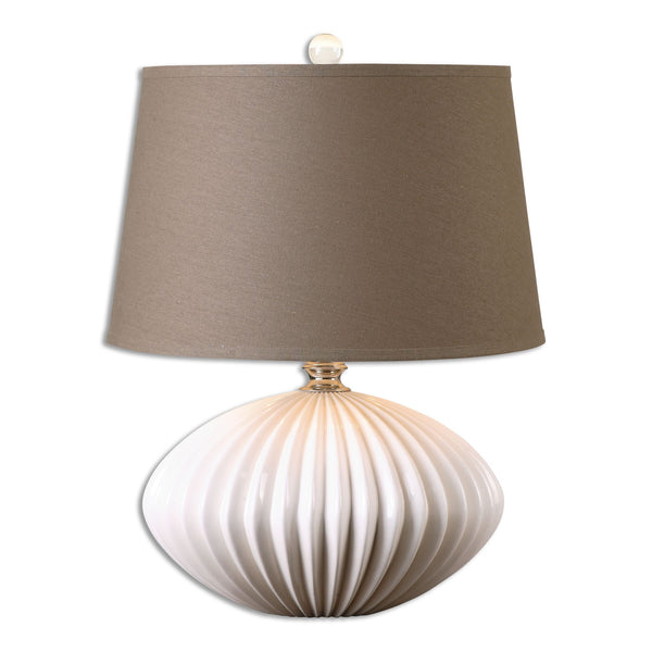 Bariano Gloss White Accent Lamp